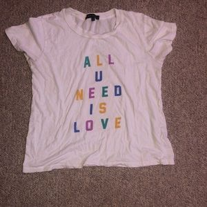all u need is love t-shirt